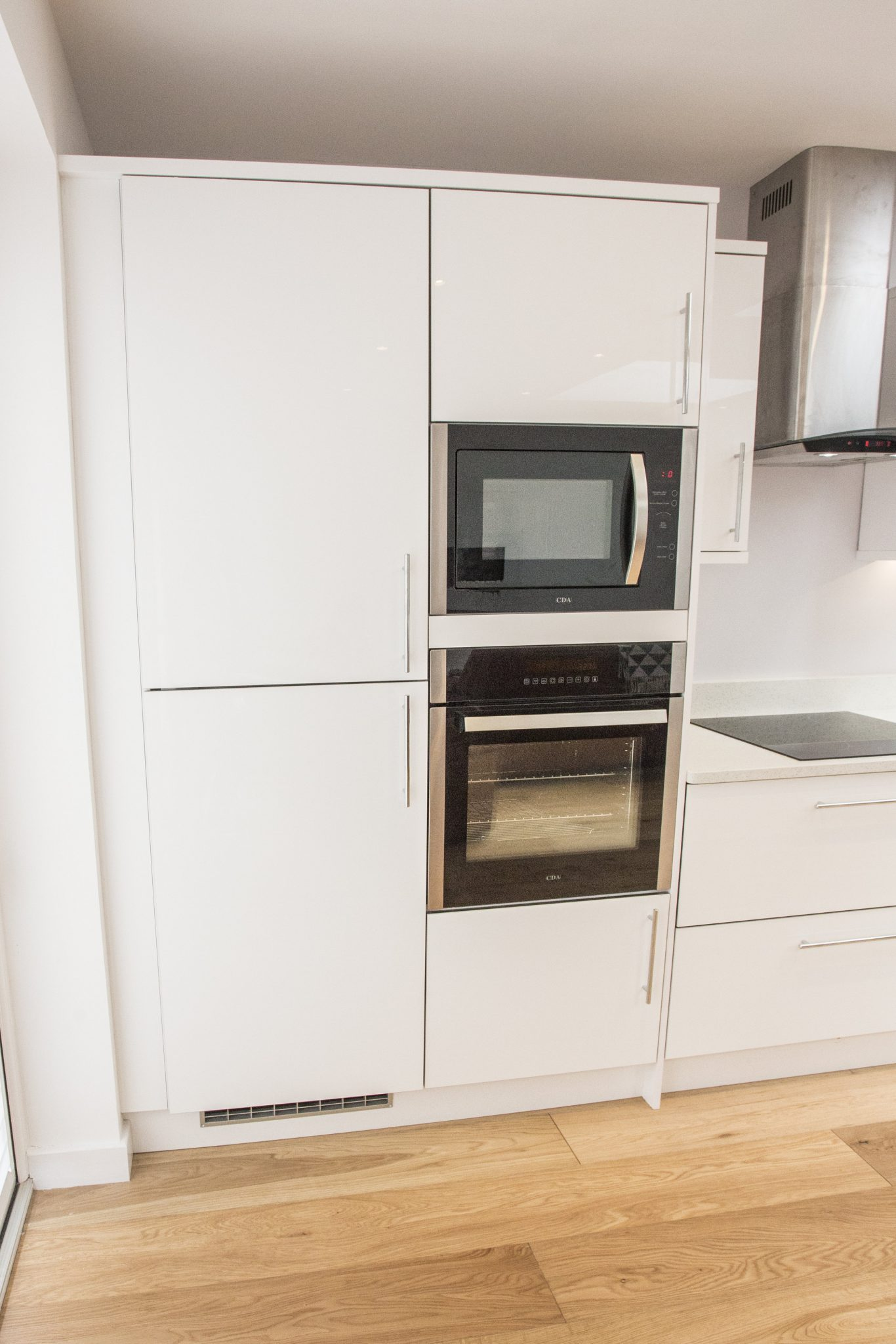 image of white unit new kitchen installation