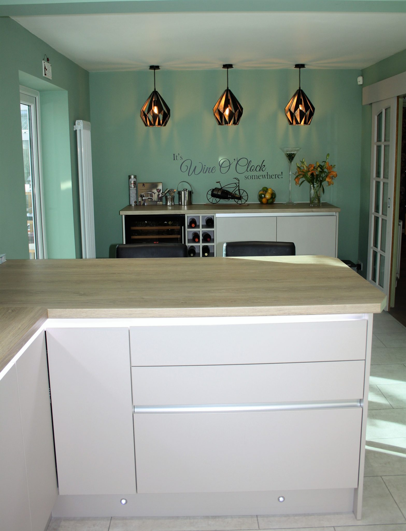 Sideboard/Bar Area with Wine Cooler