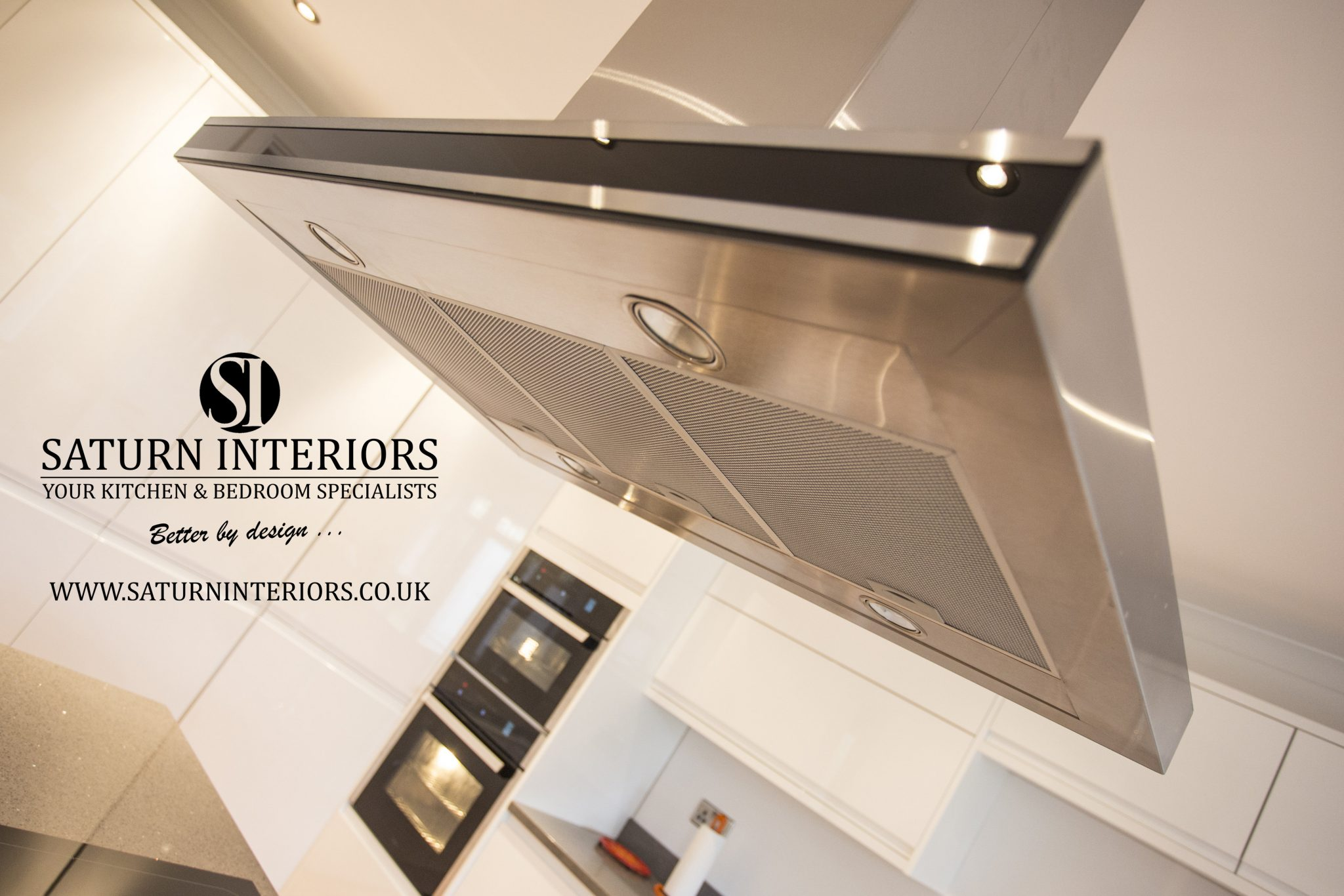 image of chrome overhead extractor fan