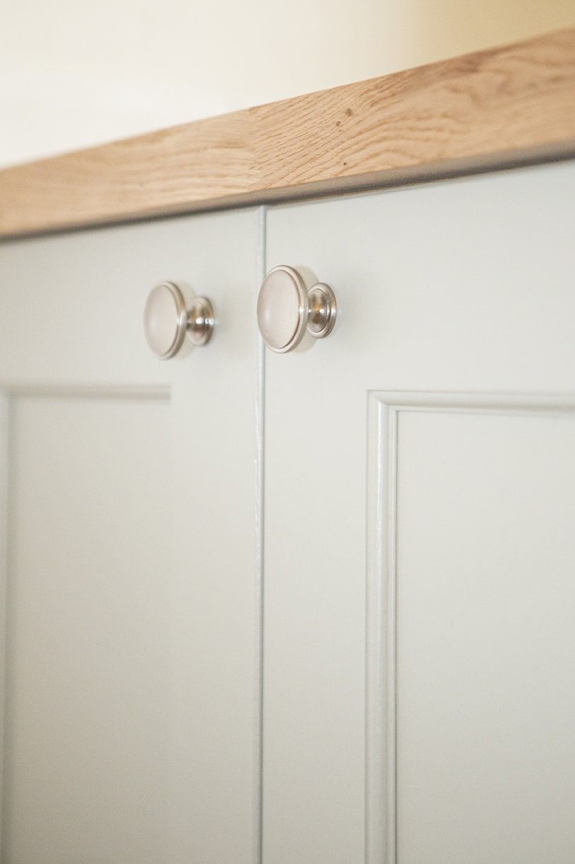 close up image of cupboard handles