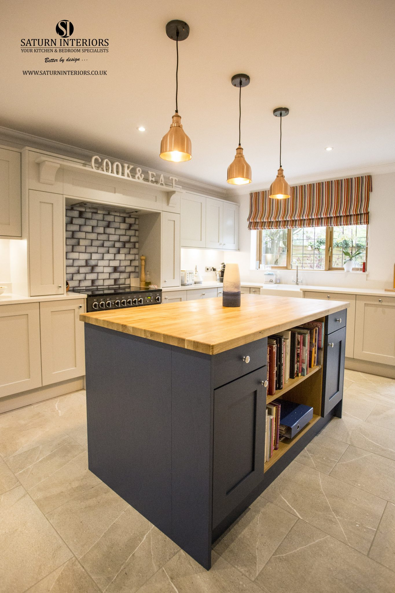 Wakefield in Light Grey and Parisian Blue Kitchen