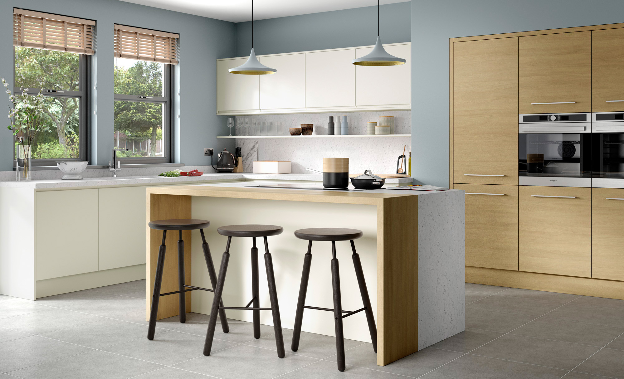 Strada Matt Oak Kitchen