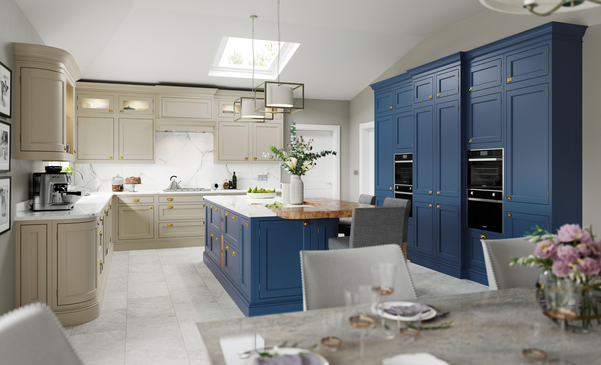 Belgravia Parisian Blue Stone Kitchen