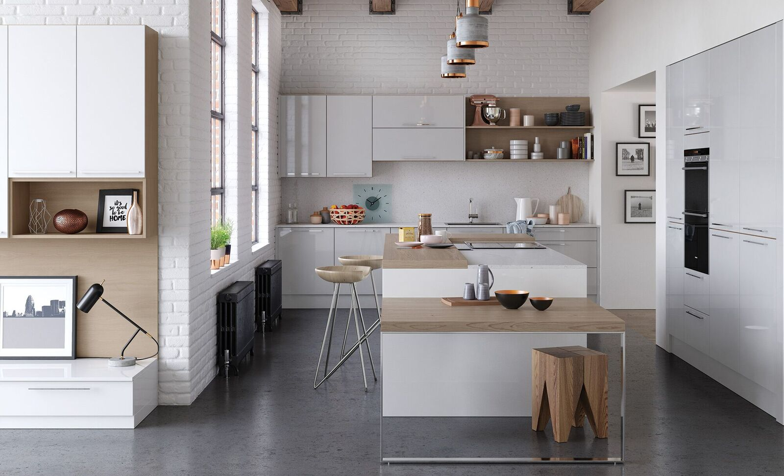 Zola Gloss White Kitchen