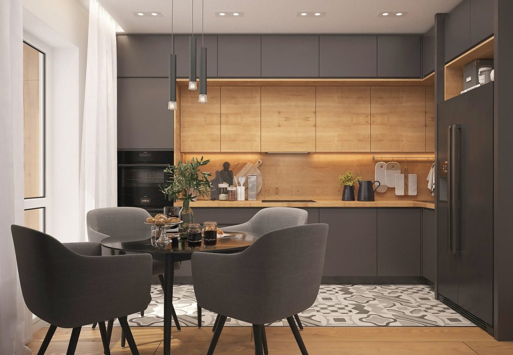 image of modern kitchen with minimal furnishing