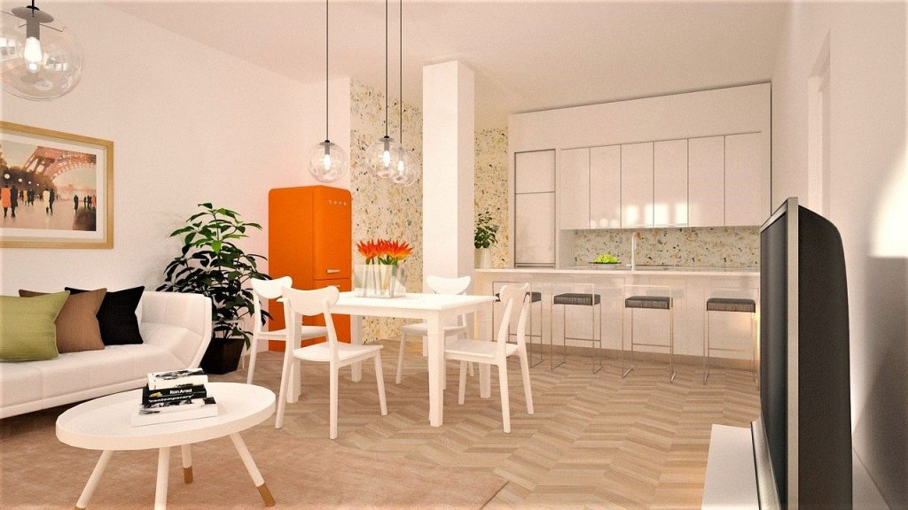 image of a kitchen with high ceiling representing how you can design your dream kitchen