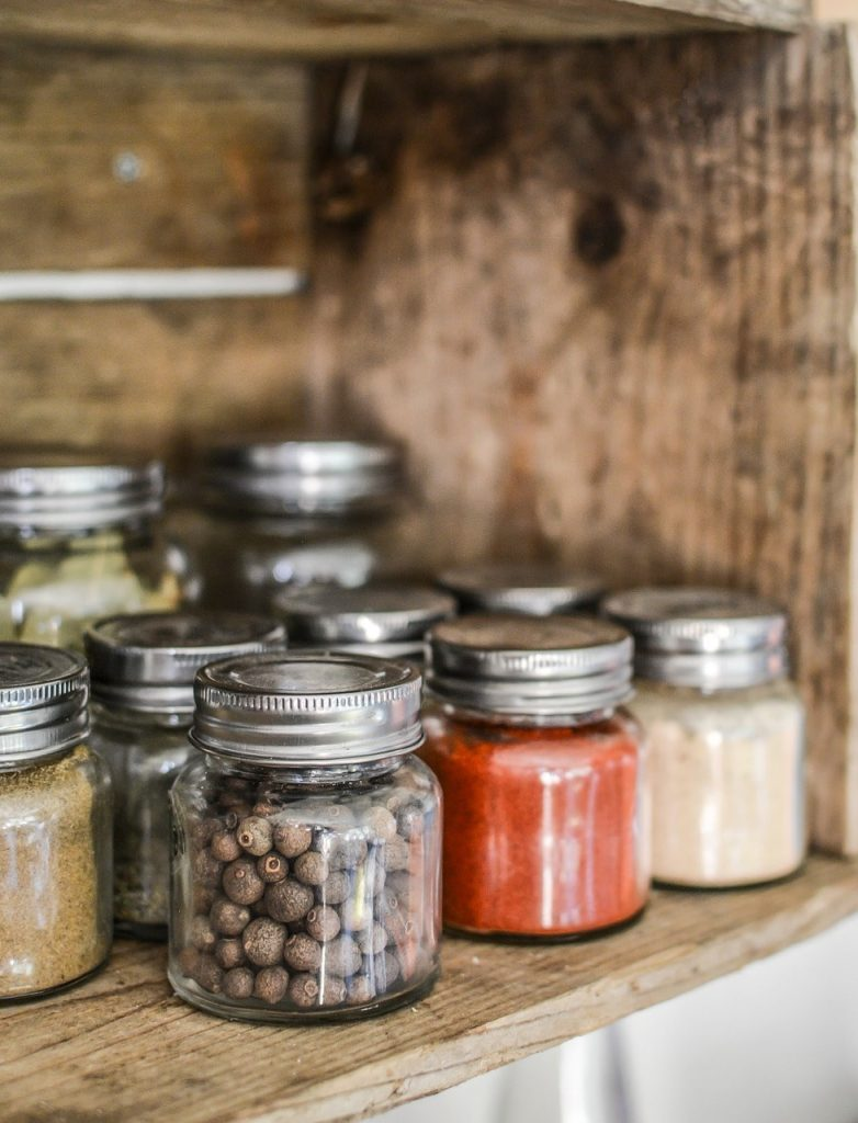 image of spice jars as a part of open shelves